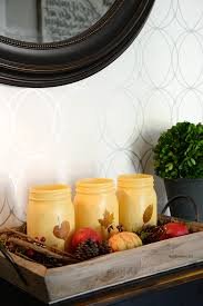 Fall Decorating Projects - fall decor painted mason jars the idea room