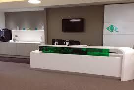 Corian Reception Desk Reception Desk And Kitchen Area Simon Kohn Furniture Ltd