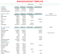 Business Expenses Excel Template Business Budget Templates Find Word Templates