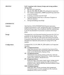 Sap Abap Sample Resume by Implementation Consultant Cover Letter