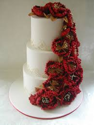 red white and gold wedding cake cake by cakes for mates