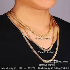 chain necklace mens images Men long foxtail chain necklace 6mm width 32 39 39 length rose gold jpg