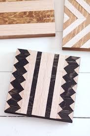 wood geometric diy geometric wood trivets a beautiful mess