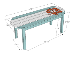 Woodworking Shop Bench Height by Ana White Surf Board Coffee Table Bench Or Child U0027s Table Diy