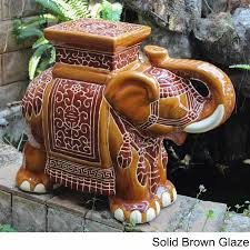 eclectic elephant ring holder images Shop international caravan large porcelain elephant stool on jpg