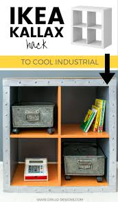 ikea kallax hack industrial storage for a boys bedroom clothes