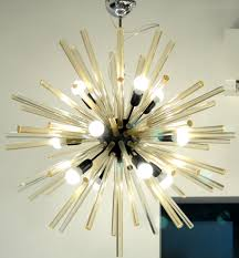 Sputnik Light Fixture by Mid Century