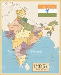Map Of India by Vintage Map Of India Stock Vector Art 470140468 Istock