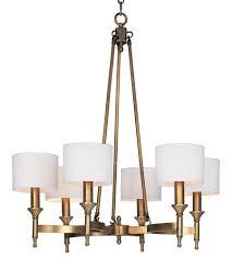 Aged Brass Chandelier Maxim 22375omnab Fairmont 6 Light 30 Inch Aged Brass