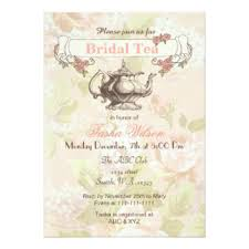 bridal tea party invitation bridal tea invitations announcements zazzle