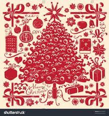 christmas tree symbols stock vector 21326347 shutterstock