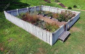 kitchen gardening ideas kitchen garden with white fence inspirations and picture images