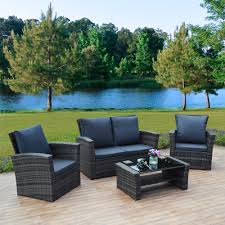 Rattan Sofa Garden Furniture 4 Piece Algarve Rattan Sofa Set For Patios Conservatories And