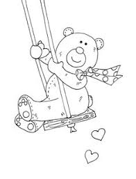 valentine u0027s bears free printable coloring pages digi stamps