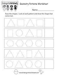 free shape worksheets kindergarten tracing shapes printable match