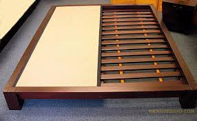 Tatami Platform Bed Frame Made From Solid Wood And Based Stains Our Raku Tatami