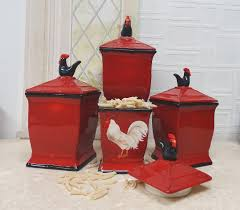 100 kitchen canister sets ceramic tuscan rooster 3 pc
