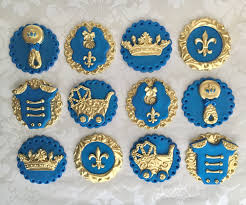royalty themed baby shower prince fondant cupcake toppers edible baby shower toppers royal
