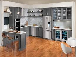 modern gray kitchen stainless steel gray kitchen cabinets for elegant and modern decor