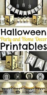 halloween party and home decor printable package simple made pretty
