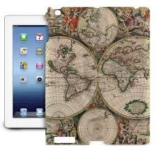 World Globe Map 1689 Antique World Globe Map Slim Fit Case Fits Ipad Samsung