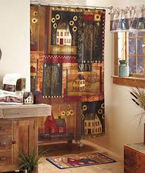 salt box houses cheap country home decor u2026 primitive country fabric shower curtain