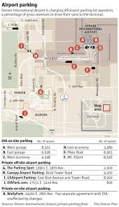 denver terminal b map dia hikes fees for airport parking vendors the denver post