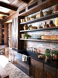 how to hang kitchen cabinets on brick wall 95 stylish kitchens with brick walls and ceilings digsdigs