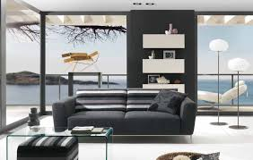 contemporary modern living room gray standing stereo brown stain