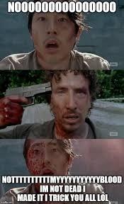 Glenn Walking Dead Meme - walking dead glenn nicholas thank you imgflip