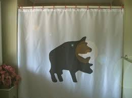 Animal Shower Curtains Pig Shower Curtain Copulation Hog Swine Animal Farm Nature