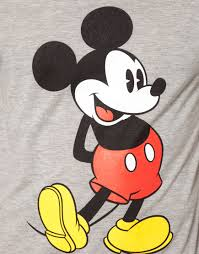 asos shirt mickey mouse print gray men lyst