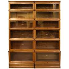 Bookcase With Filing Cabinet Stylish Five Section Waterfall Oak Globe Wernicke Barristers