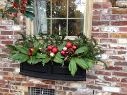 Christmas Window Box Decorating Ideas by Christmas Decorating Ideas For A Front Porch Sweet Sorghum Living
