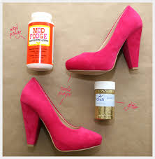 How To Decorate Shoes Diy Glitter Shoes