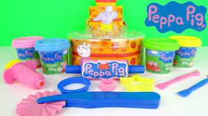 peppa pig birthday cakes peppa pig peppa s birthday cake dough play set like play doh kids