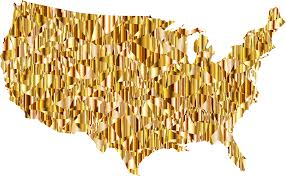 The Usa Map Gold Maps Of Usa Diagrams Free Printable Images World Maps