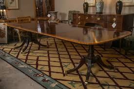 fine baker satinwood banded dining table at 1stdibs