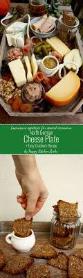 german cheese plate and easy crackers recipe german