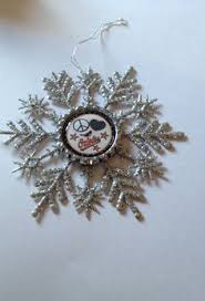 silver glitter snowflake ornament large new house