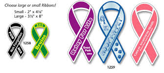 custom awareness ribbons ribbon loop car magnets custom printed with your logo stock