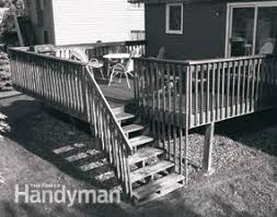 Decking Kits With Handrails Rebuild An Old Deck With New Decking And Railings Family Handyman