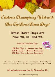 box tops for dress down days tag young scholars pta