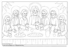 The Last Supper Colouring Page Last Supper Coloring Page