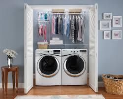 Storage Ideas For Small Laundry Rooms by Closetmaid Shelftrack 4 Ft 6 Ft W Closet Organizer Kit