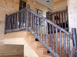 Stair Railings And Banisters Log Stairs And Custom Railings By Appalachian Designs