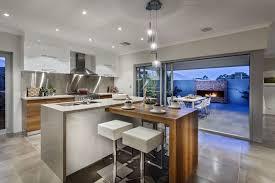 Luxury Modern Kitchen Designs Countertops Backsplash Grey Tile Flooring Luxury Modern