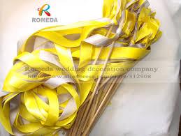 ribbon sticks ribbon stick wand wedding favor ribbon sticks wedding tassel