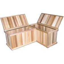 corner storage benches cedar chest but with backs and arm rests