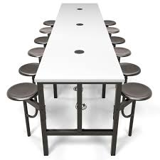 White Table L Ofm Endure Standing Height Table With 12 Seats 9012 Conference
